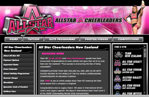 Exclamationmark Advertising Portfolio: allstarcheerleaders.co.nz