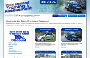 Exclamationmark Advertising Portfolio: drivertraining.org.nz